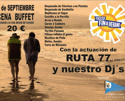 Cena Buffet 5 sept