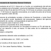 Convocatoria de Asamblea General Ordinaria