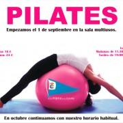 Empezamos con las clases de pilates el 1 de septiembre en la sala multiusos