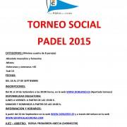Torneo Social Padel 2015