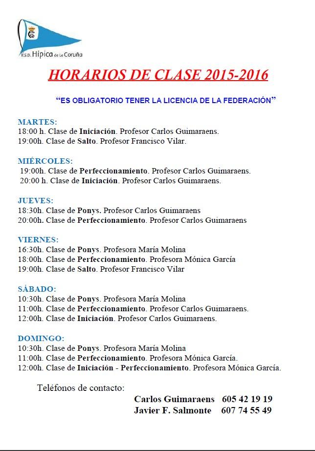 horarios equitacion 2015-16