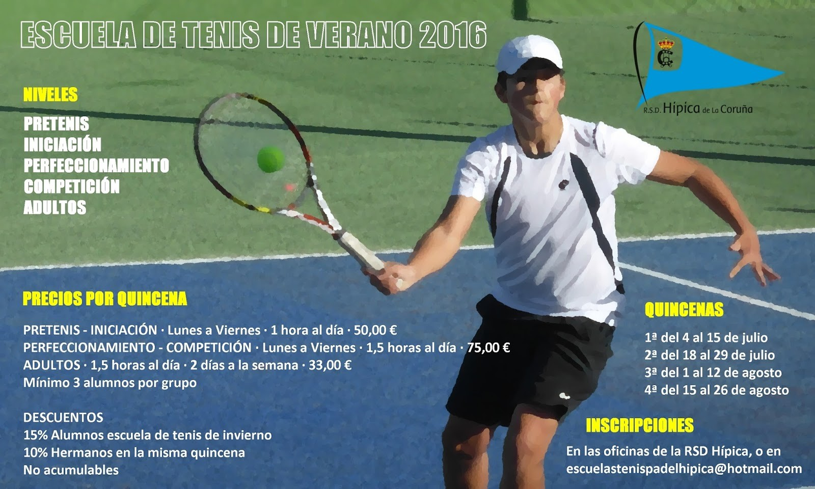 Escuela de tenis de verano 2016