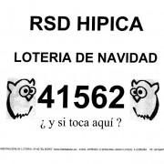 La Hípica vende a sus socios este número de la Lotería de Navidad 41562, los décimos se podrán comprar en las oficinas de la Sociedad.