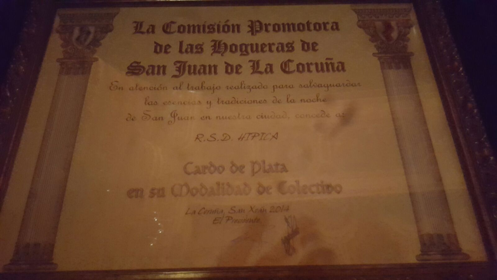 Premio de Hogueras de San Juan a la RSD Hípica (1)