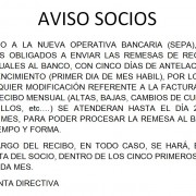 AVISO SOCIOS