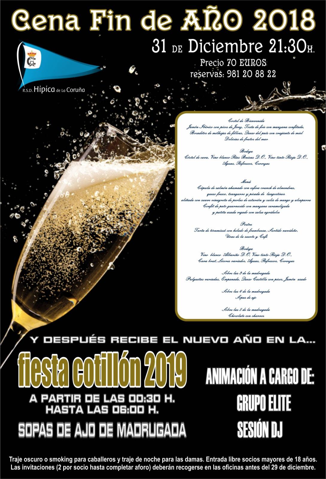 Cena de Fin de Año y Fiesta de Año Nuevo
