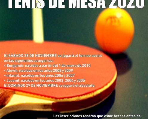 Torneo social tenis de mesa 2020